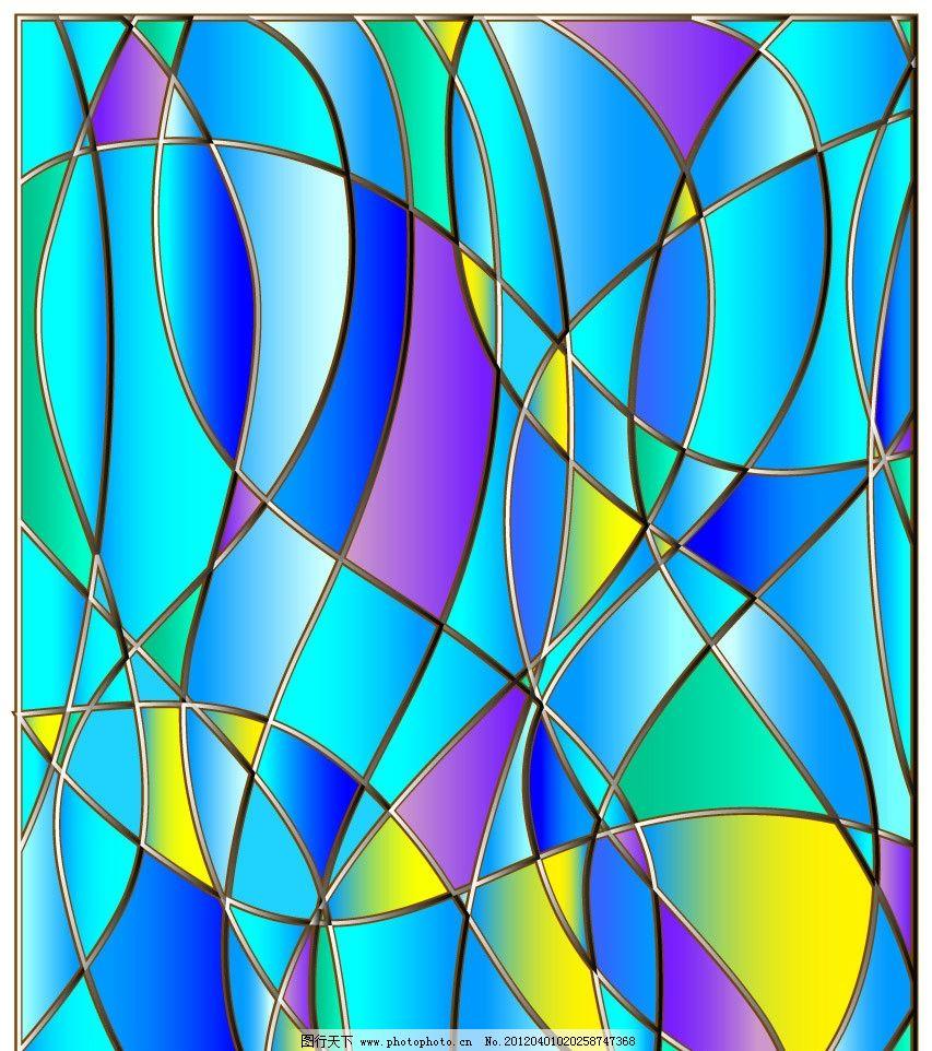 蓝色动感线条马赛克背景图片