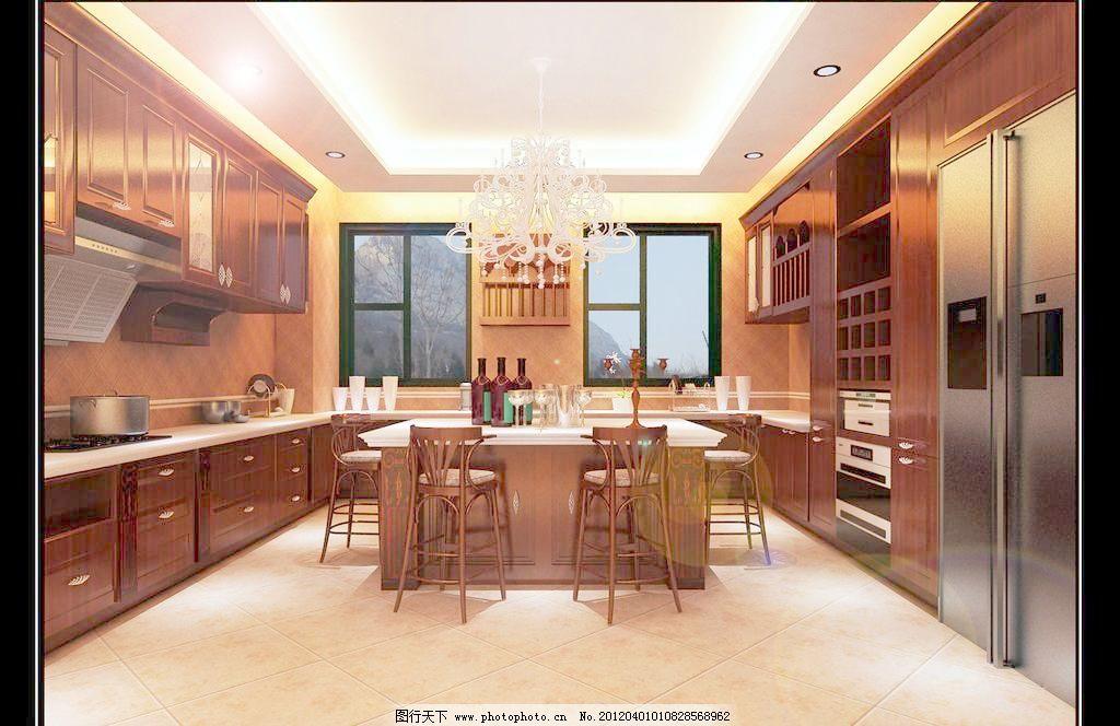 豪华欧式厨房设计效果图图片