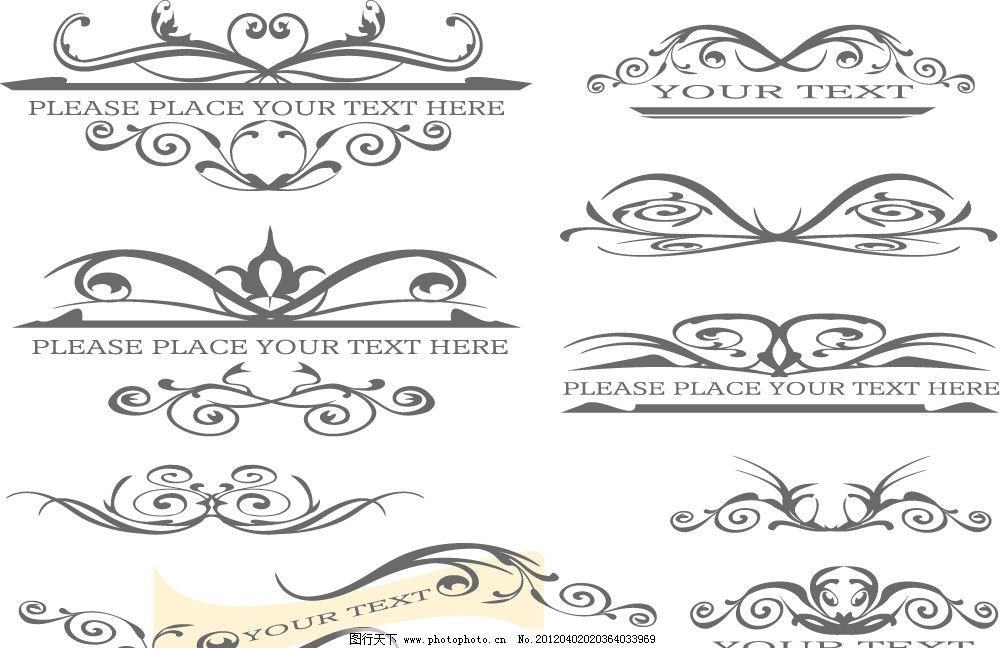 欧式底纹 欧式花边 无缝 怀旧 复古 高雅 传统 对称 精美 矢量 花纹