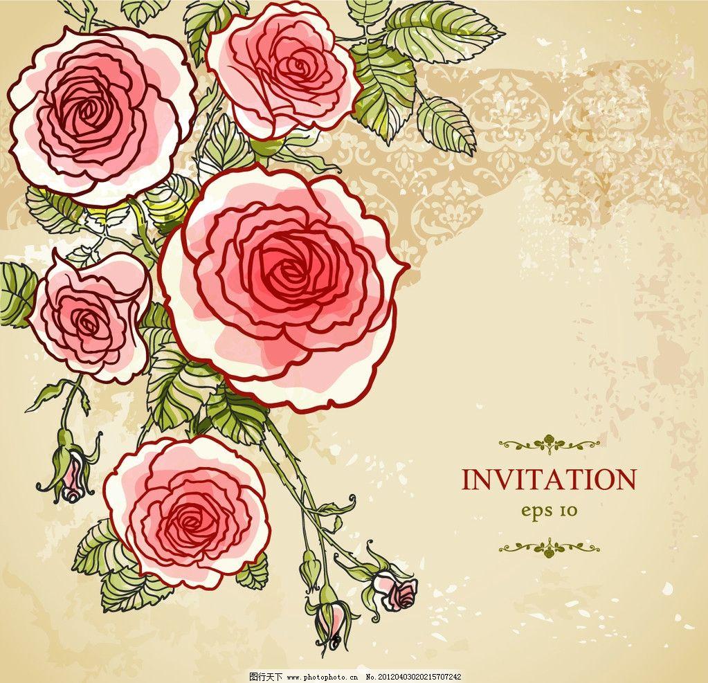 玫瑰条纹背景图片_背景底纹_底纹边框_图行天下图库
