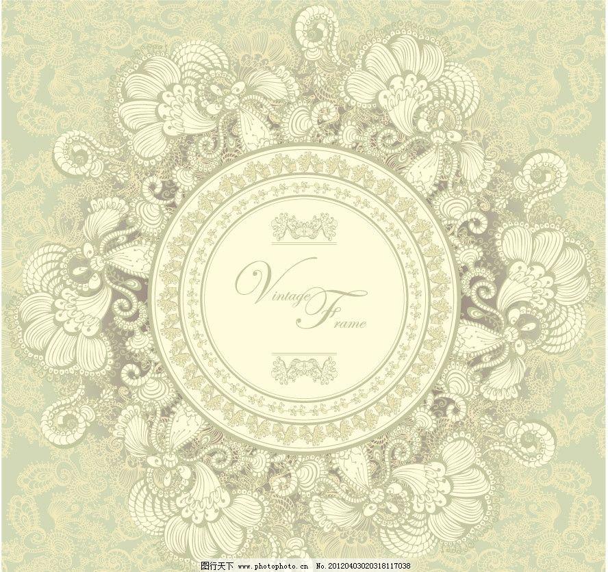 圆形 欧式 古典 花纹 花朵