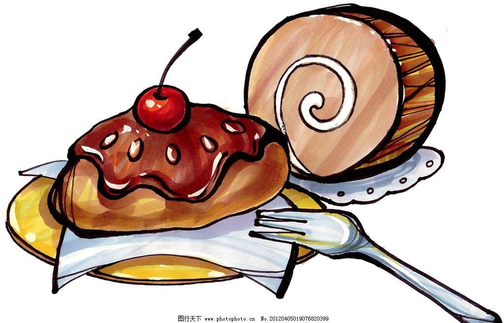 马克笔手绘面包 餐饮美食 手绘美食 手绘效果美食图 绘画书法 文化