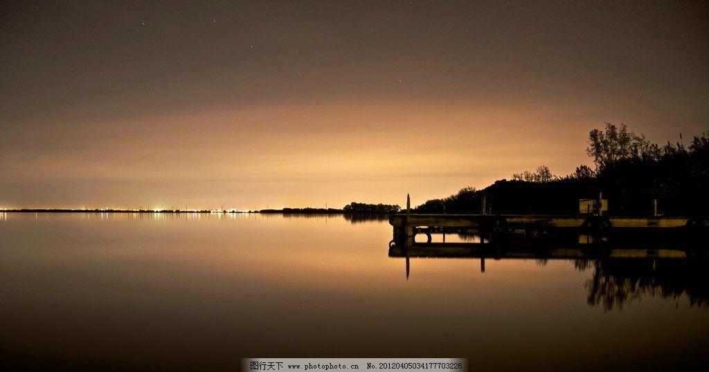 景_高清黄昏风景湖景图片