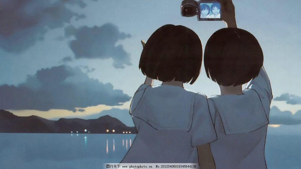 女孩 背影图片_动漫人物_动漫卡通_图行天下图库