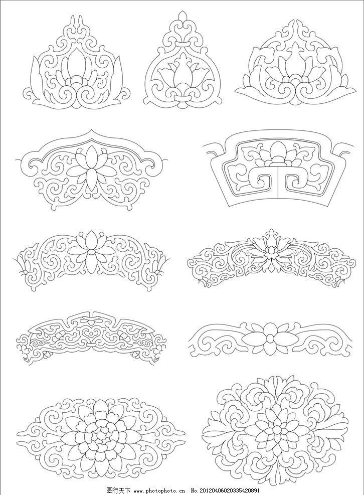 文化艺术 花边花纹 底纹边框 设计 300dpi jpg-唐代素材 唐朝 古代 古
