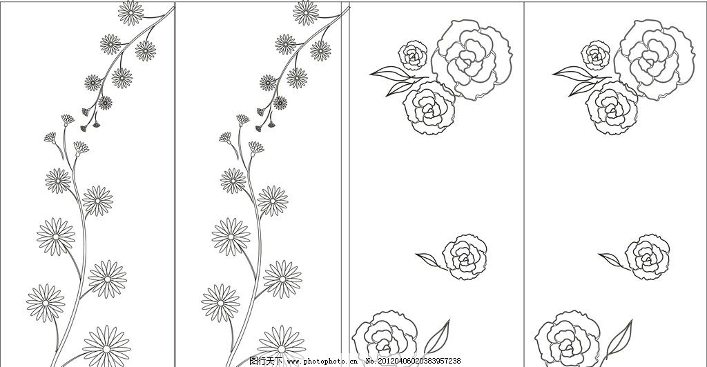 冰雕动植物设计手绘稿