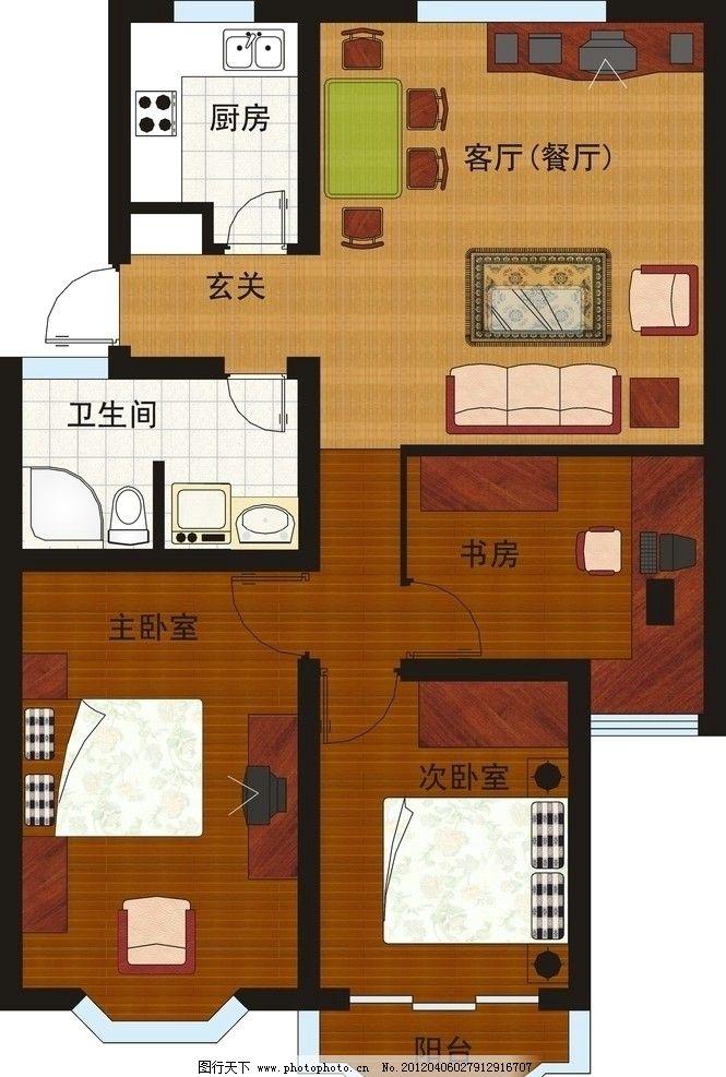 室内设计平面效果图图片