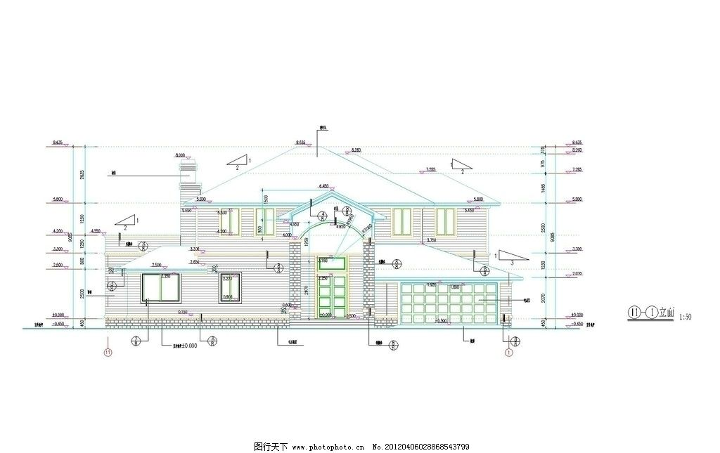 现代风格住宅 别墅 自建房 图纸 设计图 施工图 设计师 家庭装修