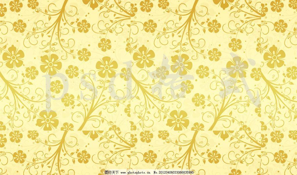 欧式小碎花无缝墙纸贴图