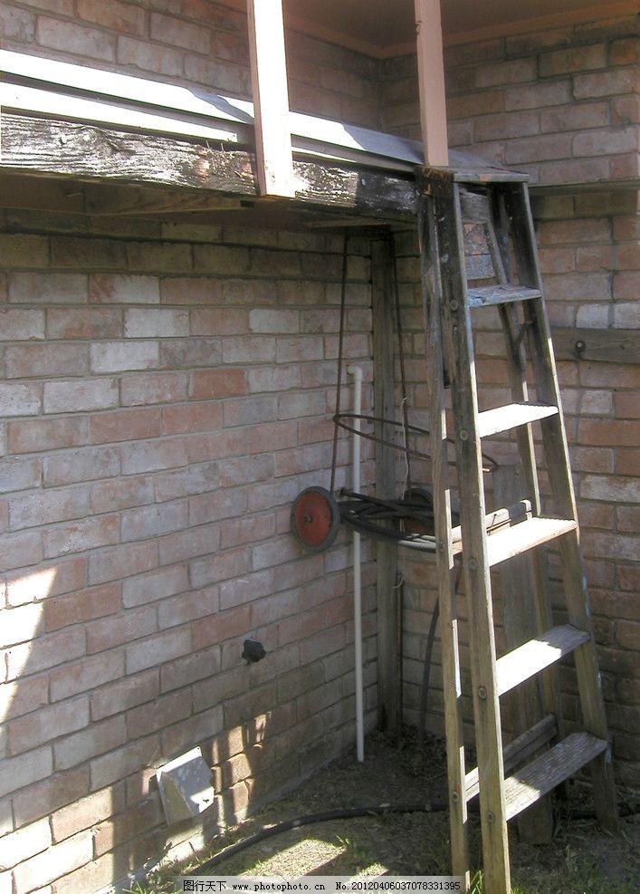 梯子特写 梯子 楼梯 房屋 建筑 特写 木梯 生活素材 生活百科 摄影 72