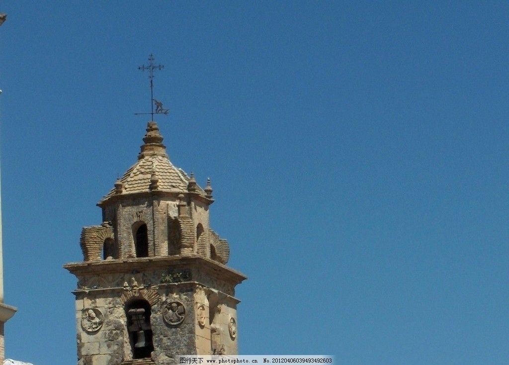 哥特式教堂建筑 高楼 钟楼 钟塔 建筑摄影 建筑园林图片