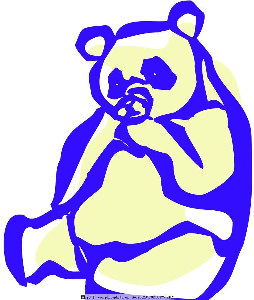 小熊 动物线描特写 轮廓线条图 轮廓图 剪影图 动物造型 动物绘画