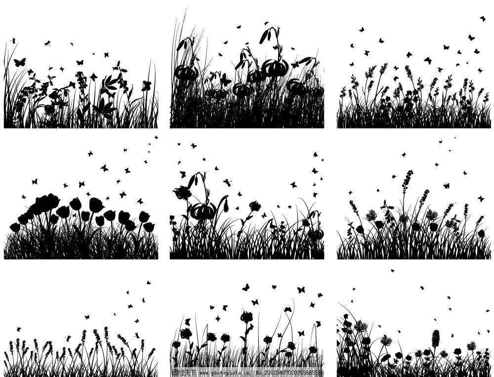 放射的黑白画手绘
