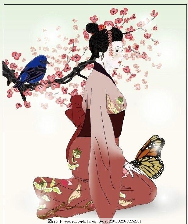 和服美女 和服 日本