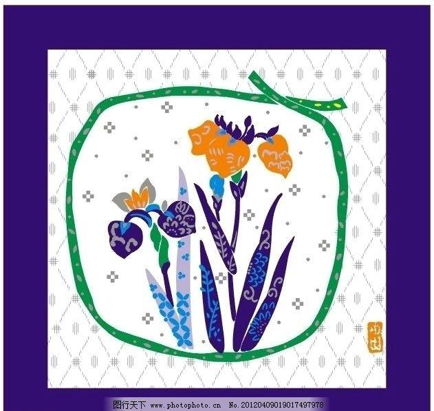 水仙花 矢量水仙花 表框画 壁画 艺术画 美术绘画 文化艺术 矢量 cdr