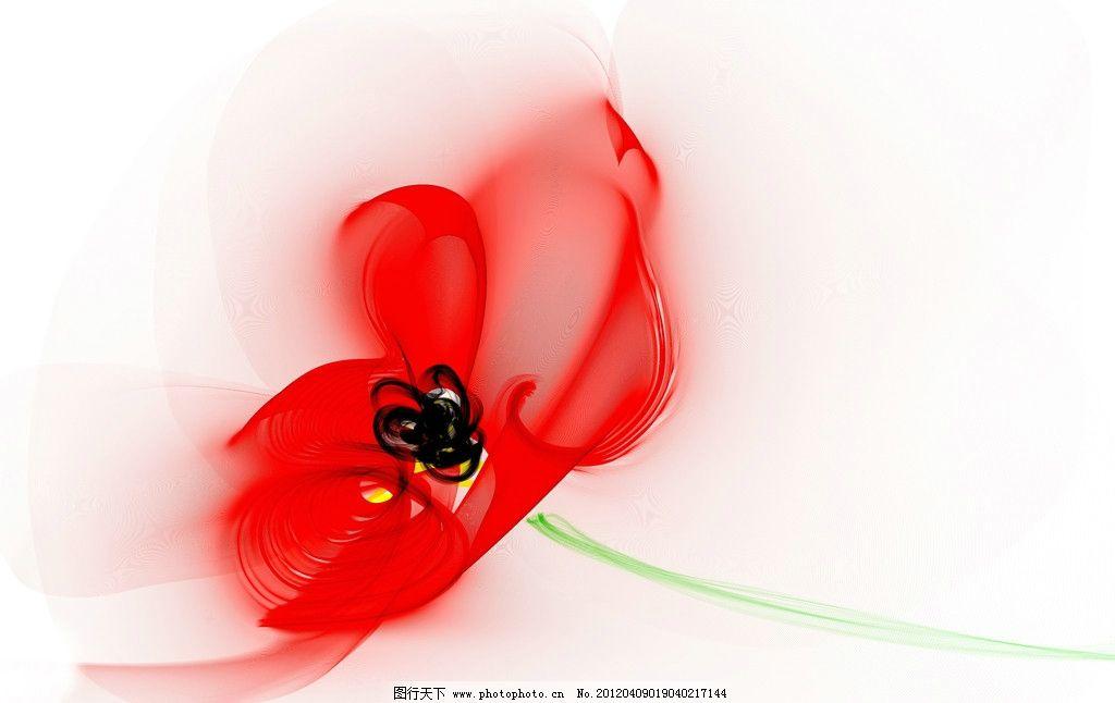 虞美人 绘画 红花 罂粟花 花朵 手绘 线条 流线 设计 300dpi jpg 绘画