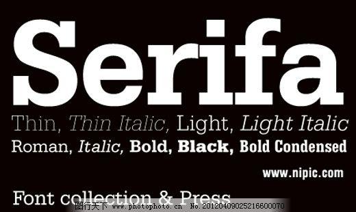 Serifa系列字体下载 英文字体 商业字体 广告字体 字体设计