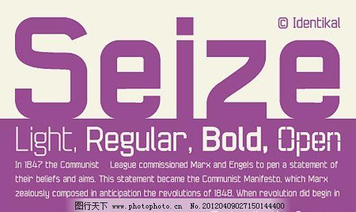 Seize系列字体下载 英文字体 商业字体 广告字体 字体设计