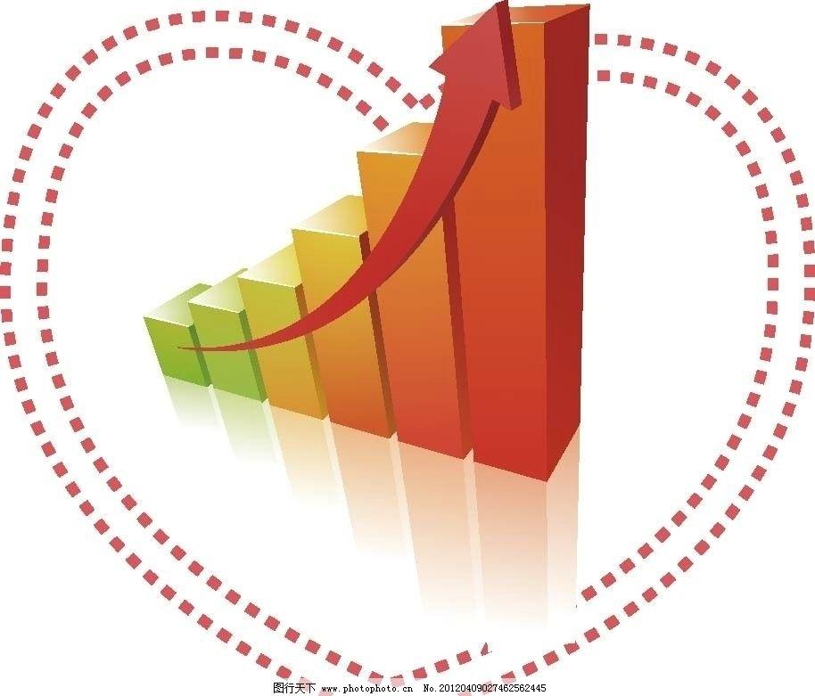 趋势图 分析统计趋势图 箭头 数据 财务 理财 报表 分布图 统计图