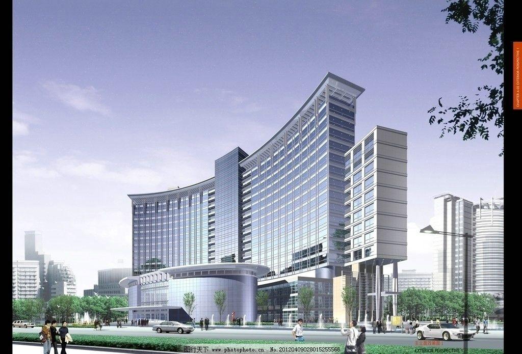 外立面 商业街 综合体 道路 商场 商厦 办公楼 行政楼 政府大楼 写字