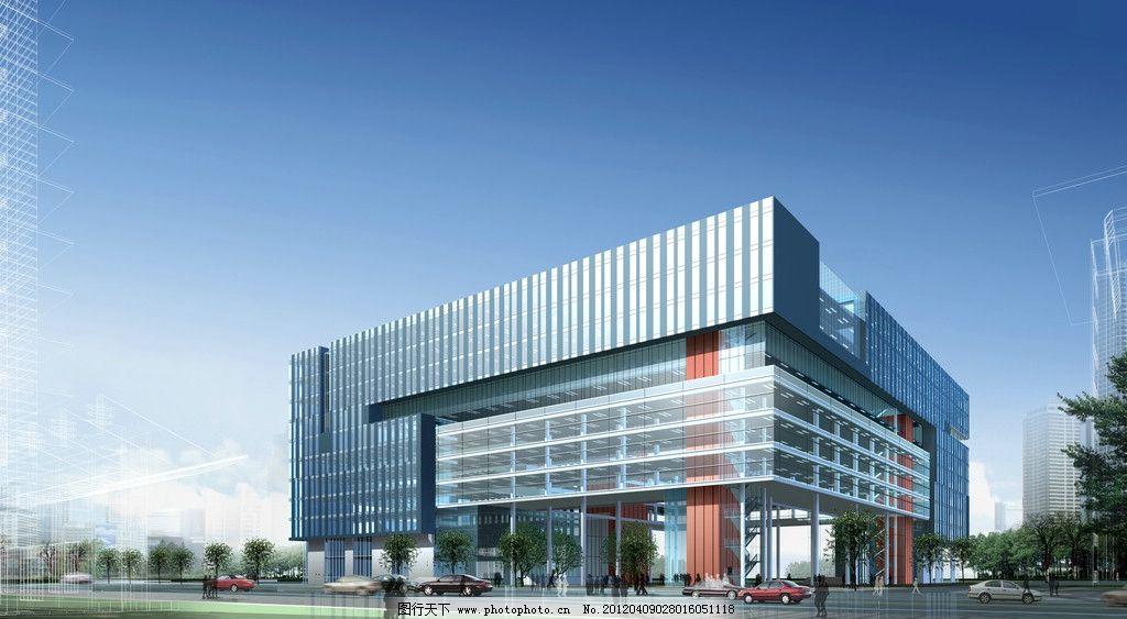 商厦效果图图片,建筑 鸟瞰图 外立面 商业街 城市-图