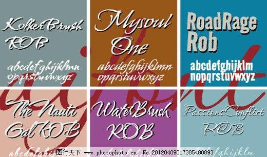Robert系列字体下载 英文字体 商业字体 广告字体 字体设计