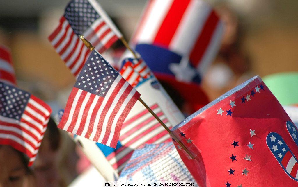 小国旗 旗帜 美国 节日 庆祝 游行 生活素材 生活百科 摄影 300dpi jp