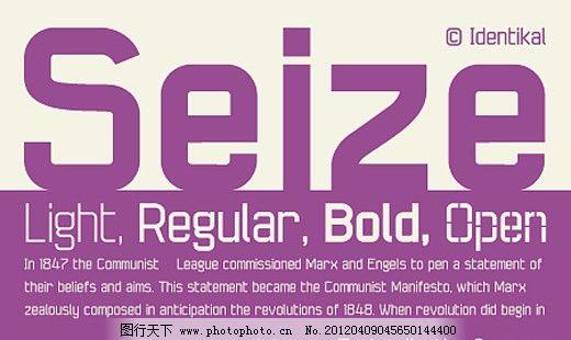 Seize系列字体下载 商业字体 广告字体 字体设计 字体预览