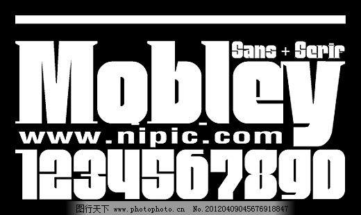 Mobley系列字体下载 商业字体 广告字体 字体设计 字体预览