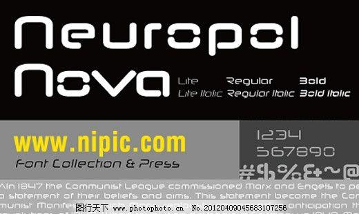 NeuropolNova系列字体下载 商业字体 广告字体 字体设计