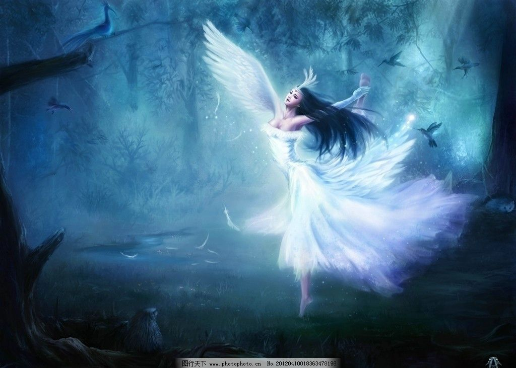 舞蹈的精灵 精灵 美女 魔法 森林 舞蹈 游戏 原画 cg 人物素材 动漫图片