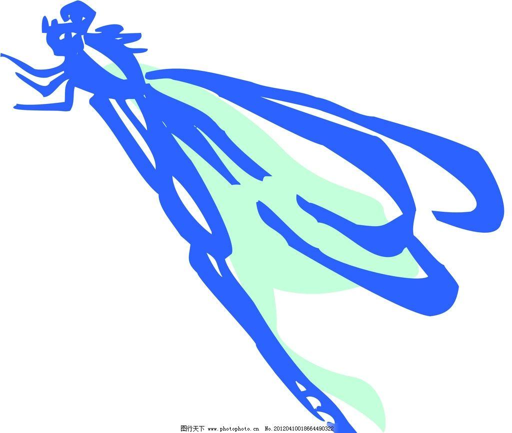 蜻蜓仿生设计手绘图