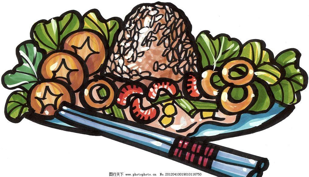 手绘蘑菇 手绘美食 马克笔手绘美食