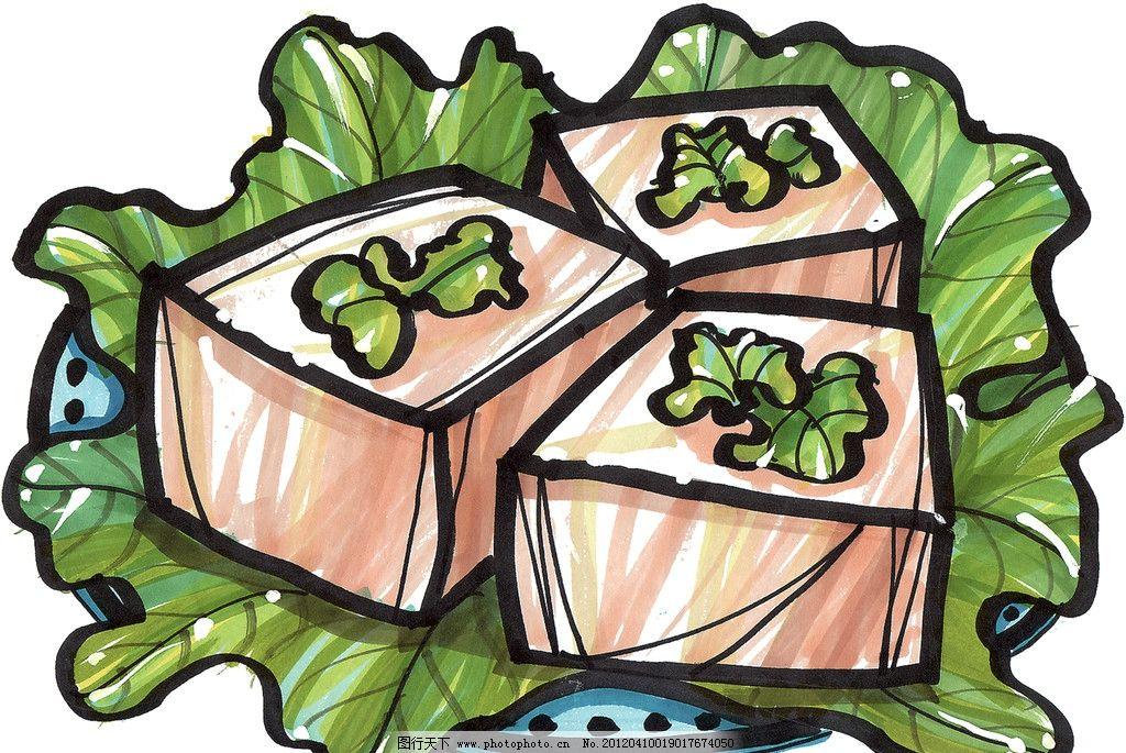 手绘美食 马克笔手绘美食 餐饮美食 冰淇淋 手绘效果美食图 手绘饮品