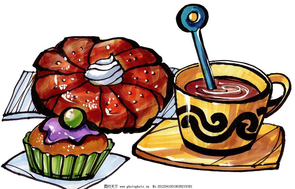 手绘美食 面包图片