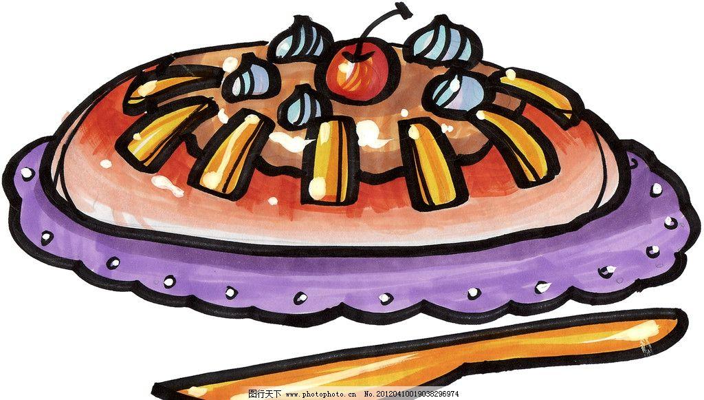 手绘蛋糕图片