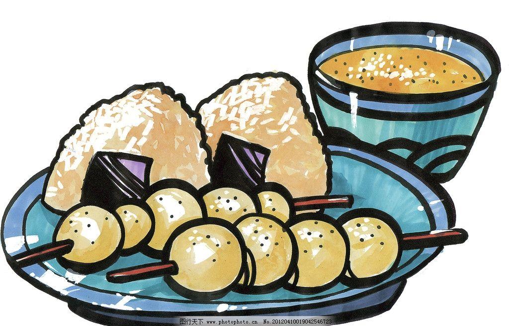 手绘烤串 粽子图片