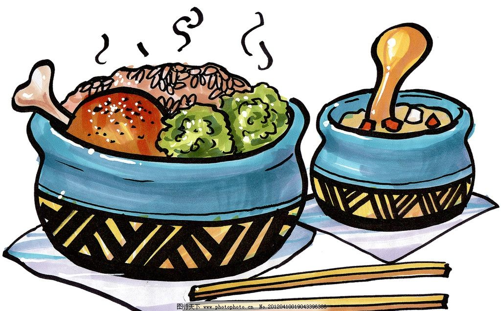 手绘美食图片_绘画书法