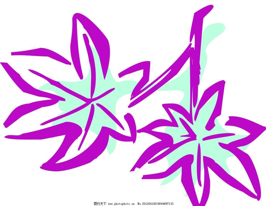 叶子线描图片
