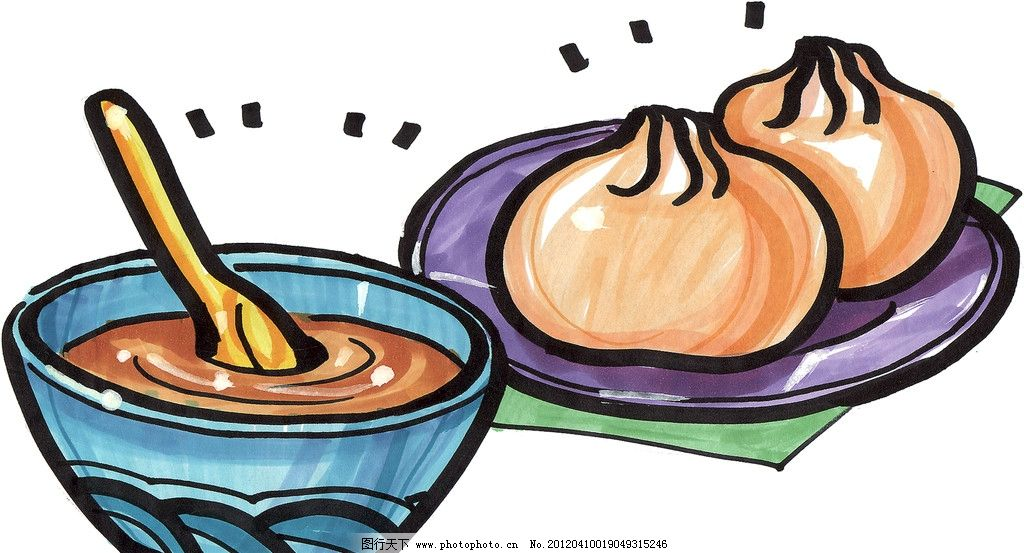 手绘餐包 手绘美食 马克笔手绘美食 餐饮美食 手绘效果美食图 绘画