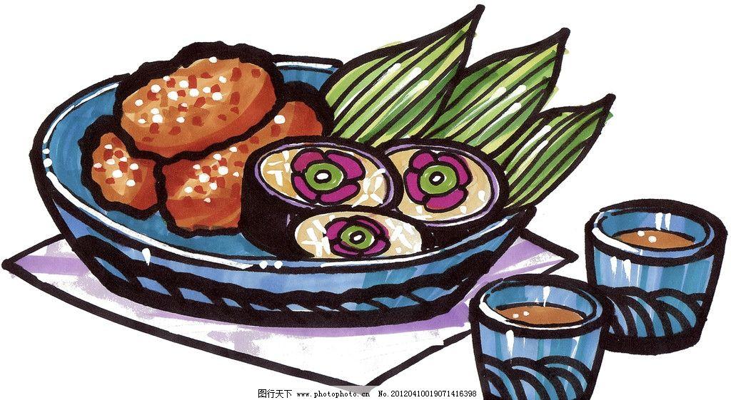 手绘寿司 马克笔手绘美食 餐饮