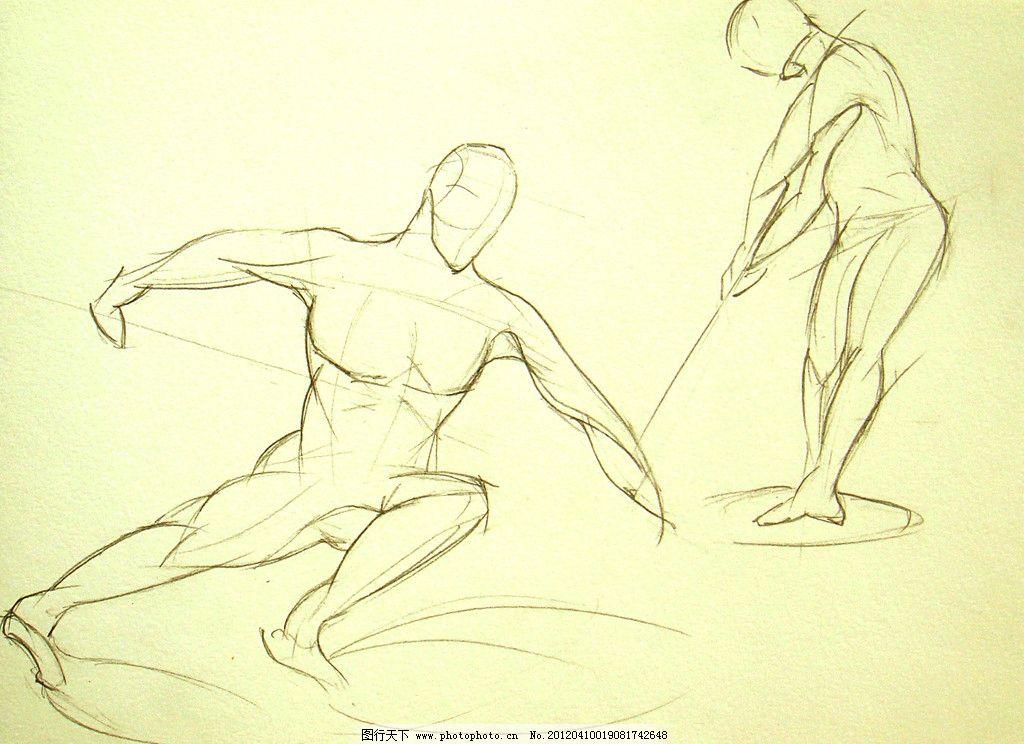 手绘人物素描图片