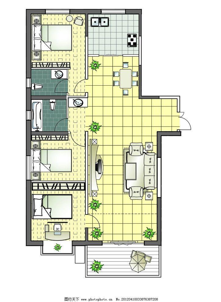 户型图 楼房平面图        房地产 其他 源文件 300dpi psd
