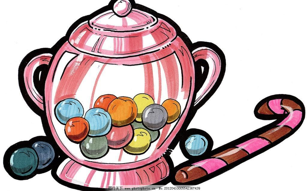 糖果罐简笔画图片大全可爱
