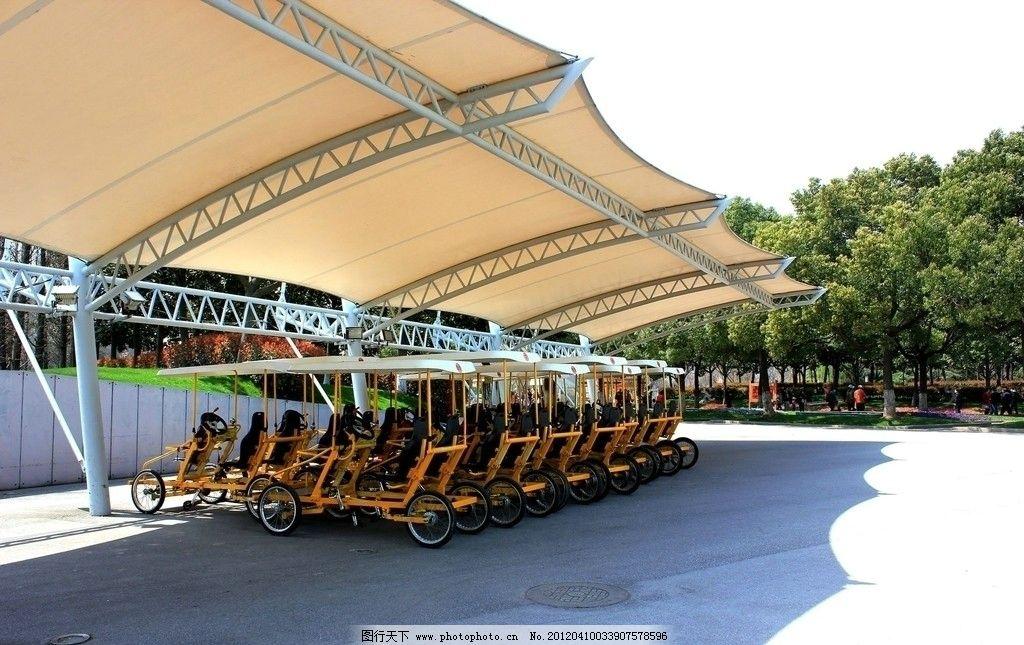 公园钢结构长廊图片