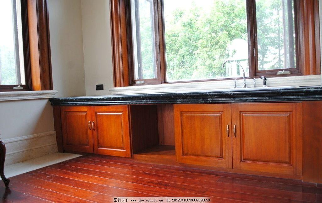 欧式洗手台矮柜图片