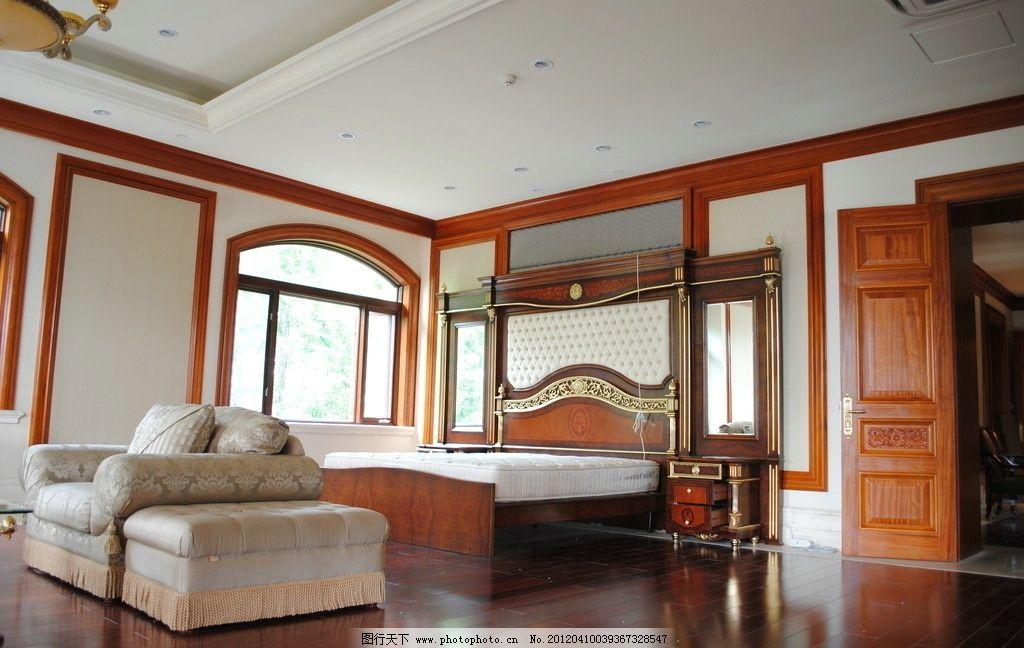 欧式装饰卧室 欧式卧室 石膏线 实景照 效果图 装饰摄影 室内摄影