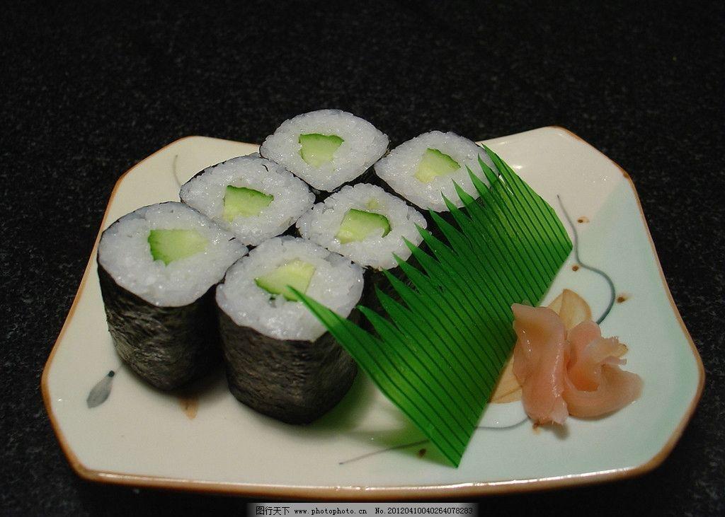 黄瓜细卷 韩国料理 寿司饭团 地方特色菜 可口 美味 美食 美食图片