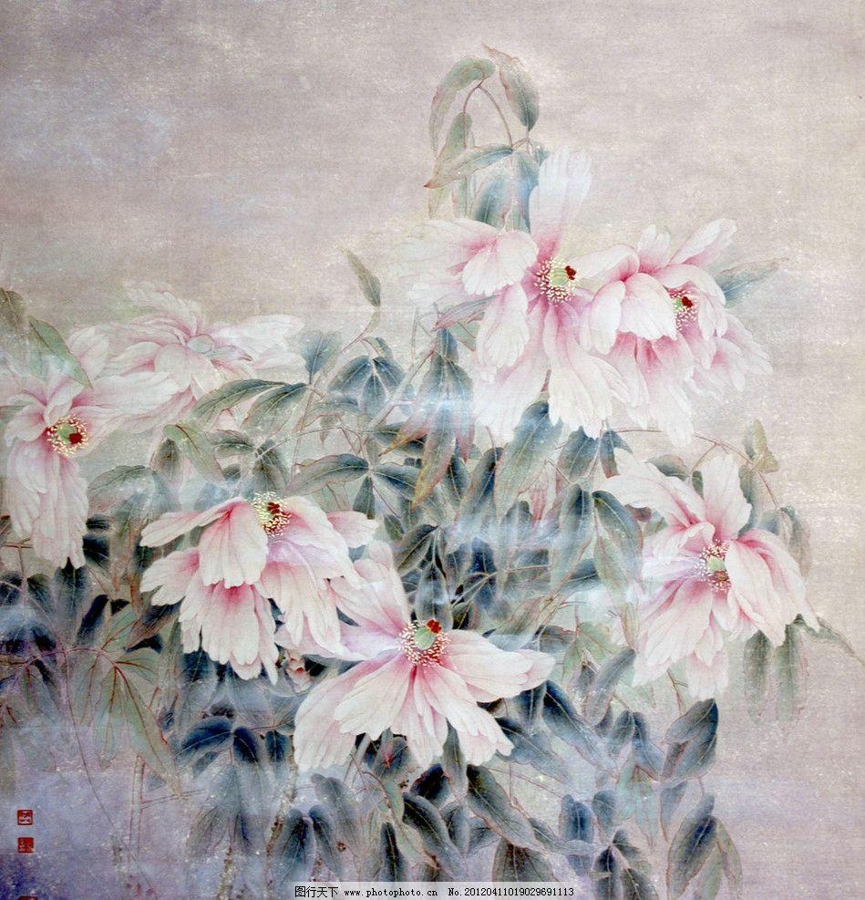 牡丹 国画 工笔 花卉 绘画书法 文化艺术 设计 72dpi jpg