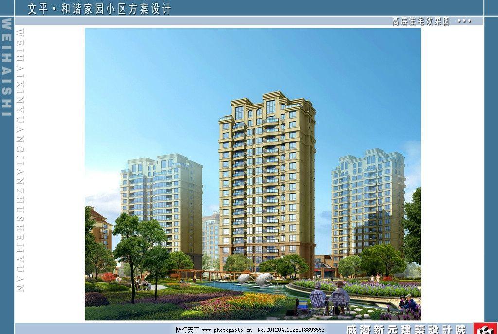 高层住宅外立面效果图图片
